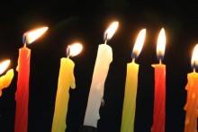 Chanukah Celebration Menorah Slider