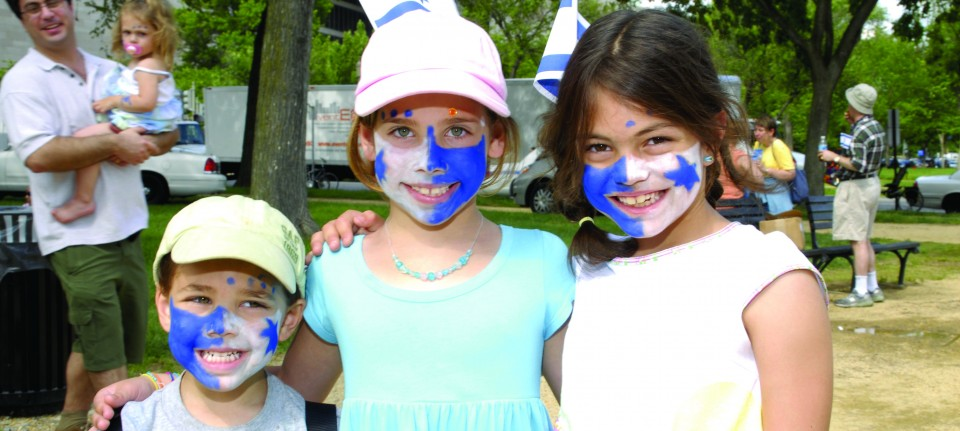 israel face paint