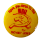 A protest button designed for the vigil by local graphic artist Avrum Ashery. Credit: Jewish Historical Society of Greater Washington Collections