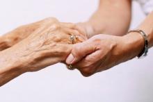 caregiver hands
