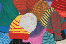 Winter gloves and hats