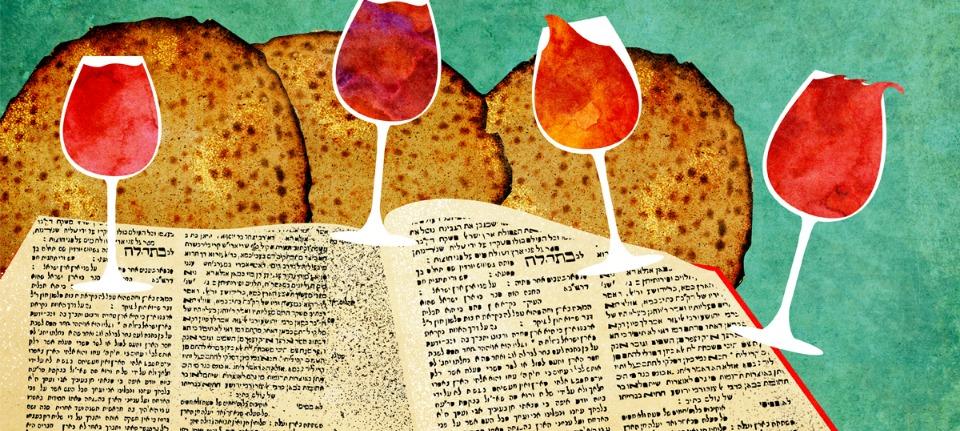 Women's Seder - Haggadah-Wine-Matzo